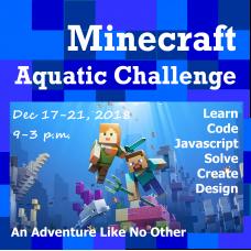 12/17 Minecraft - Aquatic Exploration - Full/Half Day Camp
