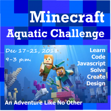 12/17 Minecraft - Aquatic Exploration - Full/Half Day Camp